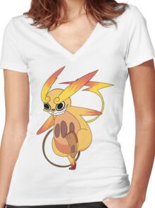 Pokemon Fusion: Raimanitan Women's Fitted V-Neck T-Shirt