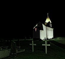 Little Church at Night by Jasna