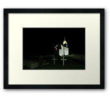 Little Church at Night Framed Print