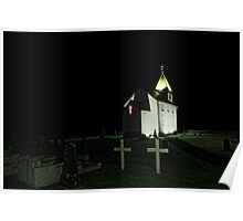 Little Church at Night Poster