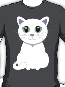 Only One White Kitty With Collar T-Shirt