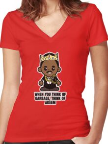 Lil Akeem Women's Fitted V-Neck T-Shirt