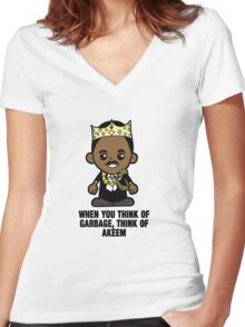 Lil Akeem Women's Fitted V-Neck T-Shirt