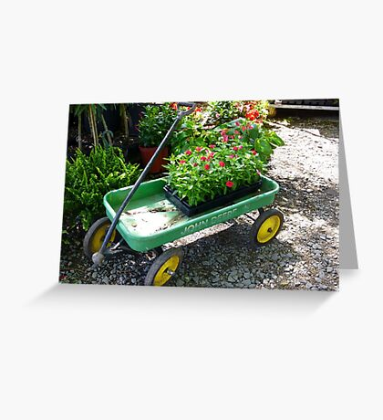 John Deere Wagon Greeting Card