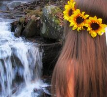 Sunflower Waterfall Sticker
