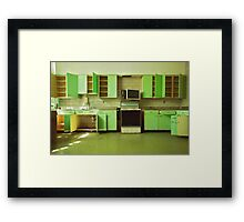 The Green Kitchen Framed Print