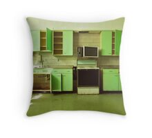 The Green Kitchen Throw Pillow