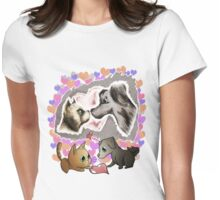 Valentines Pets - Love Womens Fitted T-Shirt