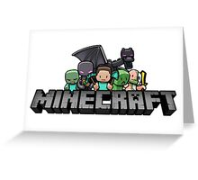 Minecraft family Greeting Card