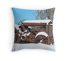 The Trusty Rusty Tractor Throw Pillow