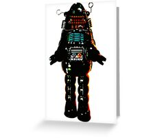 Cartoon robot Greeting Card