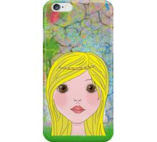 Carla - blond girl  iPhone Case/Skin