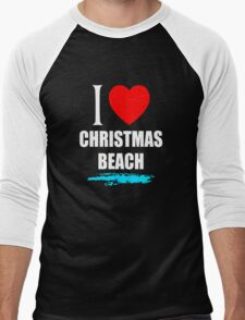 I LOVE CHRISTMAS BEACH Men's Baseball ¾ T-Shirt