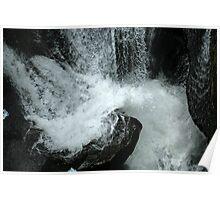 Waves Crashing Over Rocks Poster