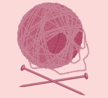 Yarn Skull and Cross Knitting Needles Kids Clothes