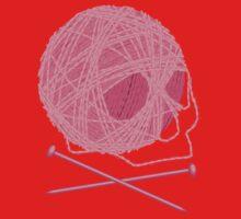Yarn Skull and Cross Knitting Needles Kids Clothes