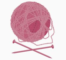 Yarn Skull and Cross Knitting Needles by linesXofXfury
