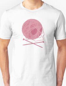 Yarn Skull and Cross Knitting Needles T-Shirt