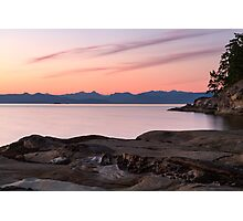 Sunset from Duke Point Photographic Print