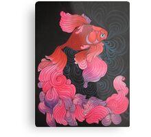 Pink Oranda  Metal Print