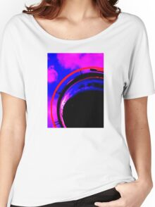 Abstract red magenta black blue Women's Relaxed Fit T-Shirt
