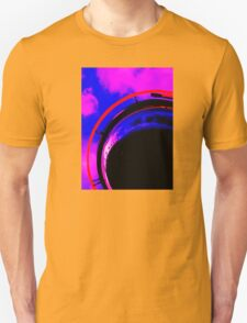 Abstract red magenta black blue Unisex T-Shirt