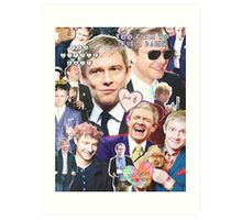 martin freeman collage Art Print