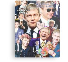 martin freeman collage Metal Print