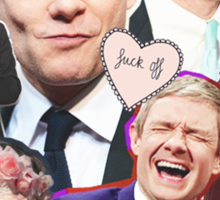 martin freeman collage Sticker