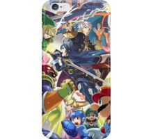 Smash 4 Lucina and Robin Reveal Illustration iPhone Case/Skin