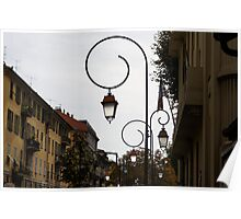 Charming Streetlamps in Old Town Nice, France, French Riviera Poster