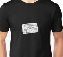 Hand Drawn Cassette Tape Analog Retro Old School  Unisex T-Shirt