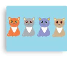 Only Four Cats Canvas Print
