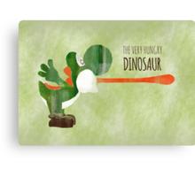Very Hungry Dinosaur Canvas Print