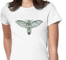 Hawk Moth Paper-Cut  Womens Fitted T-Shirt