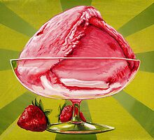 Strawberry Ice Cream by Kelly  Gilleran