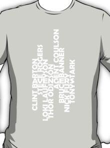 The men of the Avengers - white T-Shirt
