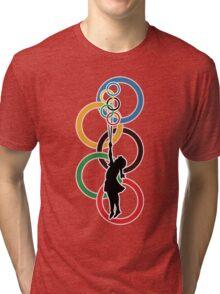 Olympic Dream - Banksy Inspired Tri-blend T-Shirt