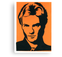 Sting of The Police Vintage Black & Orange Silkscreen Art Canvas Print