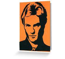 Sting of The Police Vintage Black & Orange Silkscreen Art Greeting Card