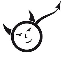 Symbol man face male young characters Devil horns  by Style-O-Mat