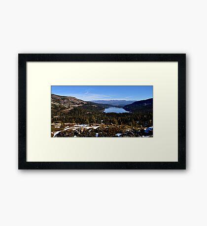 Donner Pass Framed Print