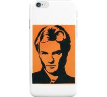 Sting of The Police Vintage Black & Orange Silkscreen Art iPhone Case/Skin