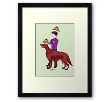 Young Sherlock & Redbeard, Consulting Detectives Framed Print