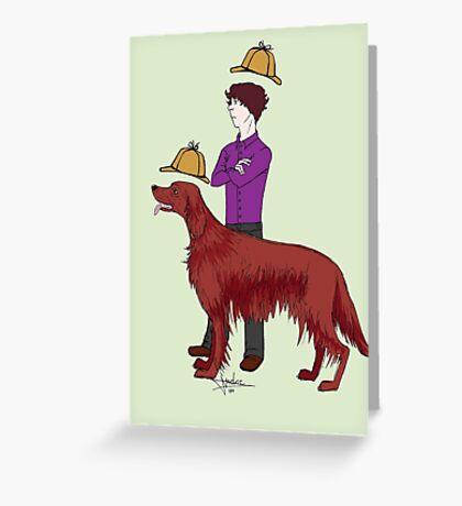 Young Sherlock & Redbeard, Consulting Detectives Greeting Card