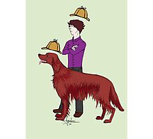 Young Sherlock & Redbeard, Consulting Detectives Photographic Print