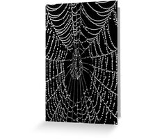 The Black Web Greeting Card