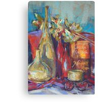 Red & green bottles Canvas Print