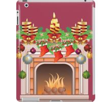 Decorated Christmas Fireplace iPad Case/Skin