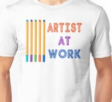 Artist At Work Oil Pastels Unisex T-Shirt